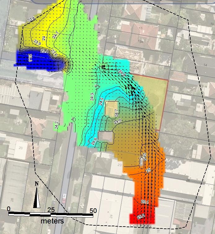 existing flood contours